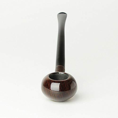 MUXIANG - Pipas de tabaco de palisandro con capucha de viento para Vauen dr. Perl 9 mm filtros de papel 10 regalos de limpieza