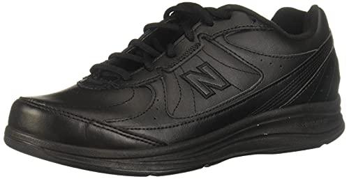 New Balance Women's 577 V1 Lace-Up Walking Shoe, Black/Black, 9 XW US