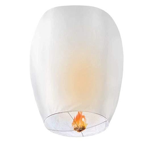 GOCHANGE 20 Pack Lanterns - 100% Biodegradable, Eco-Friendly, Lanterns for Weddings, Celebrations, Memorial Ceremonies (White)