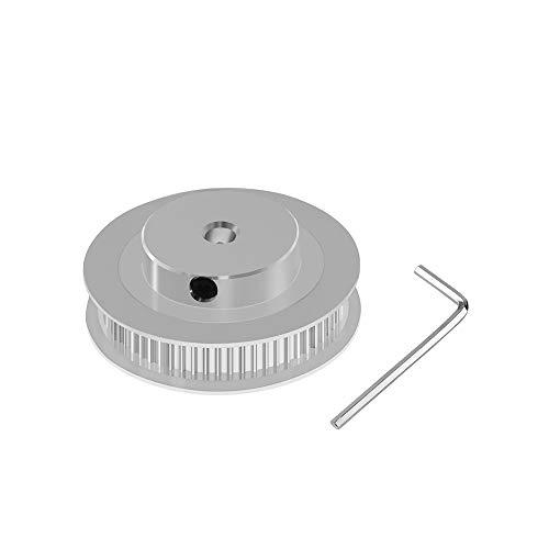 Aibecy Aluminium GT2 Zahnriemenscheibe Riemenscheibe 60 Zähne 60T 5mm Bohrung Synchronrad für 6mm Breite 3D Drucker GT2 Zahnriemen