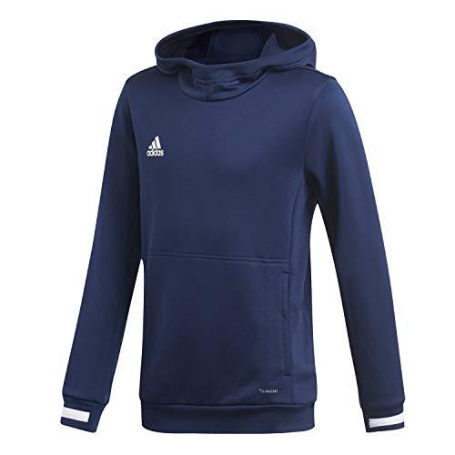 adidas Unisex Kinder T19 Hoody Y Sweatshirt, Team Navy Blue/White, 176