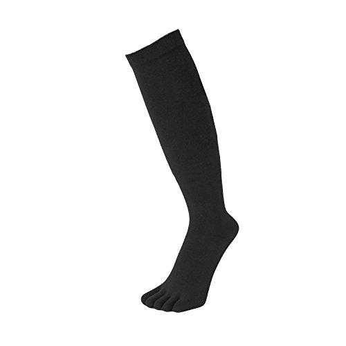 TOETOE - ESSENTIAL - Knee-High Toe Socks (UK 4-11 | EU 36-46, Black)