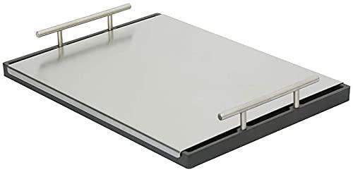 Tapa para plancha de acero inoxidable   Dimensiones: 50 x 40 cm