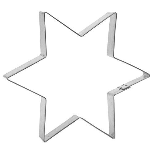 Ausstecher Lebkuchenform Stern- sechszackig Keksausstecher Plätzchenform, Weißblech, ca. 12 cm