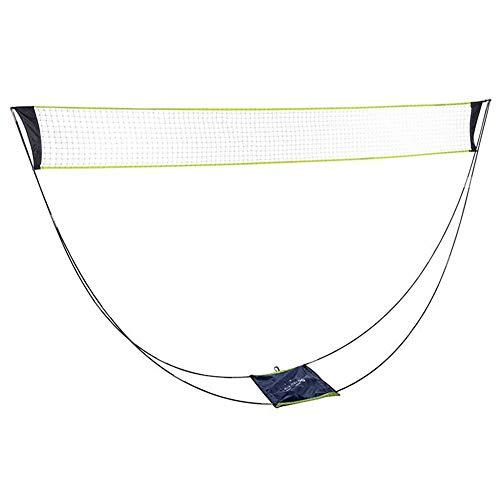 LUNAH - Rete da badminton per tennis, indoor outdoor, spiaggia, sport, competizione, per bambini, adulti, accessori portatili rimovibili