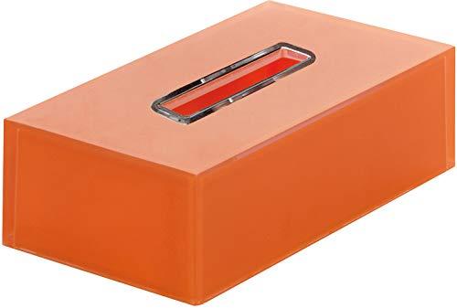 Gedy RA086700000 Porta-Pañuelos, Naranja, Rectangular