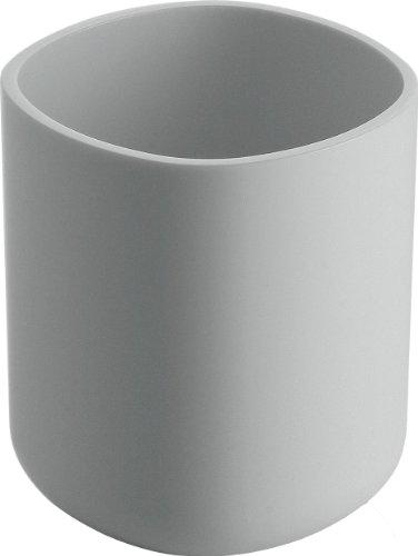 Alessi Birillo PL03 W Bicchiere Portaspazzolino di Design in PMMA, Bianco