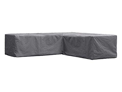 Perel Garden OCLSL215 Protective Cover for L-Shaped Lounge Set 215 cm, Black, 215 x 215 x 70 cm