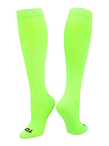 TCK Sports Krazisox Neon Over the Calf (Neon Green, Large)