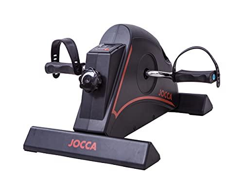 Jocca - Pedaleador Estático | 4 Funciones |Pantalla Digital l Aparatos para hacer ejercicio casa | pedaleador antideslizante
