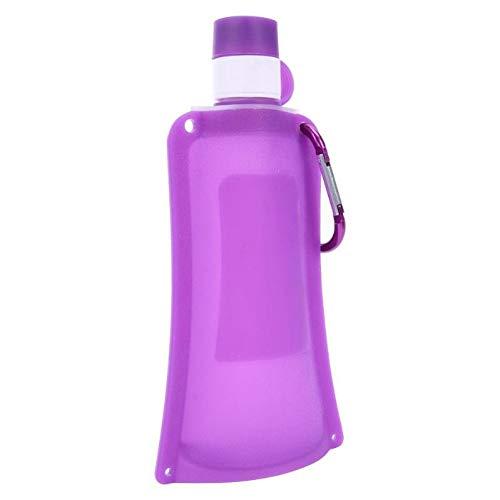 CGMZN Wasserglasbeutel 500 ml Pliable Souple sac D'eau douce bouteille D'eau Portable Pliable bouilloire en Plein air Sport bouteille D'eau Camping Voyage en Cours d'exécution