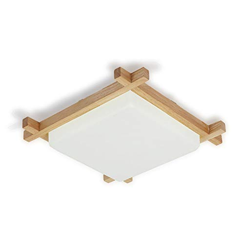 Ultra-dunne houten plafond Lamp Planken Acryl Master Bedroom Lamp Moderne Minimalistische Nordic LED Three-Color Slaapkamer Living Room Lamp