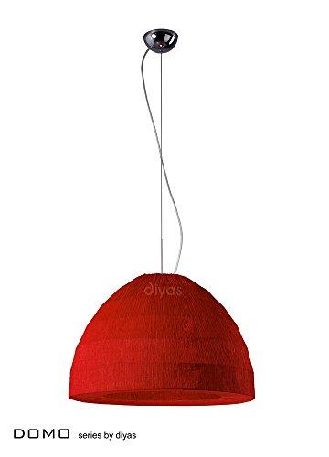 Diyas IL60013 Domo - Lámpara colgante (3 unidades, cromo pulido), color rojo