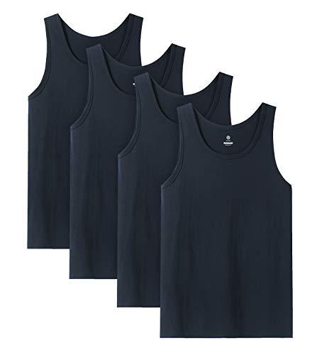 LAPASA Camiseta de Tirantes Hombre de Algodón Puro, Camiseta Interior Masculino Pack...