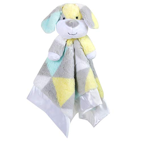 Minky Animal Snuggler Blankets – Animal Loveys for Baby Boys and Girls (Puppy Pal)