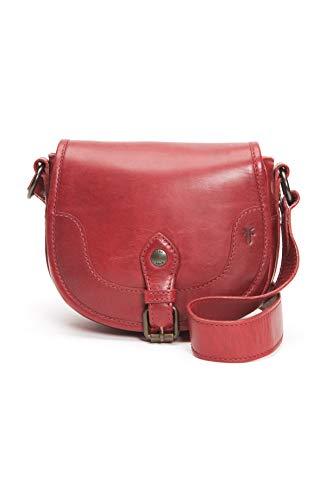 Frye Melissa Button Saddle, rojo (Rojo), Talla única