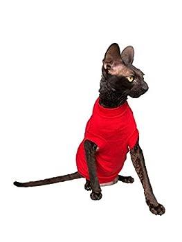 Kotomoda Sphynx Cat 's T-shirt à col roulé pour chat sans poils Taille XS