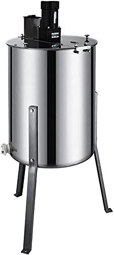 Happybuy Electric Honey Extractor Stainless Steel Honeycomb Drum Spinner Beekeeping Equipment