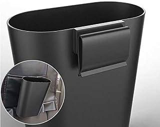 JKBDNB Cubo De Basura para Vehículos para Colgar En El Coche, Cocina, Oficina, Coche, Caja De Almacenamiento Pequeña, Accesorios para El Coche (Color, Blanco), Blanco