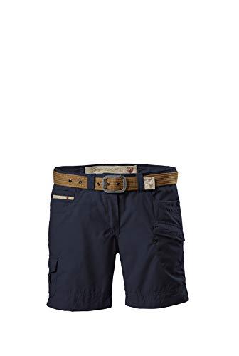 G.I.G.A. DX Damen Shorts Hira, Bermuda mit Gürtel, kurze Hose für Frauen mit praktischen Taschen, navy, 40