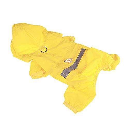 Regenjacken Für Hunde Hunderegenmantel Welpenregenmantel Mit Kapuze Reflektierende Wasserdichte Hundekleidung Weiche Atmungsaktive Haustierkatze Kleine Hunderegenbekleidung Xs - 2Xl-Yellow_Xxl