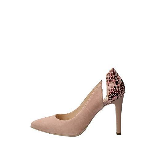 scarpe primavera donna tacco Nero Giardini 11061 Scarpe da Donna in camoscio col. Phard Alt. Tacco cm.9
