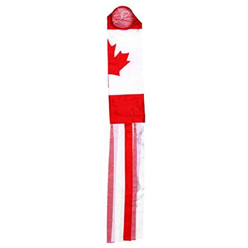BESPORTBLE Windsack Kanada Windsack Kanadischer Polyester Dekorativer Garten Hängen Flagge Wind Socke für Garten Garten Dekoration im Freien