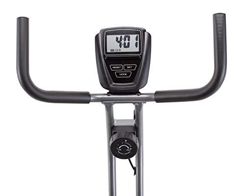 CADENCE Unisex SMARTFIT 100 Faltbares Fitnessfahrrad, Schwarz und Silber,