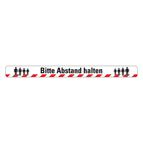 Bodenmarkierung/Warnmarkierung/Warnband/Aufkleber/Boden (50mm x 600mm) Bitte Abstand halten