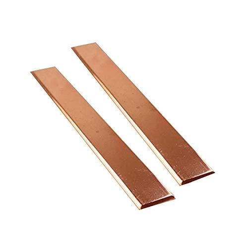 Zerobegin 99,6% de Cobre púrpura T2 Plana Barra de Cobre de la Placa del Metal de Gaza, Resistencia a la corrosión, para la alimentación y la Industria, Espesor: 1,5 mm,1.5mm*20mm*500mm