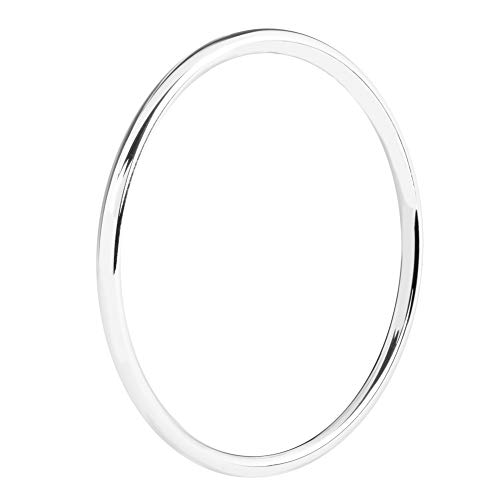 Armreif 925 Silber für Damen 4mm Armband Elegant Poliert Klassisch Schlicht Rund 65mm