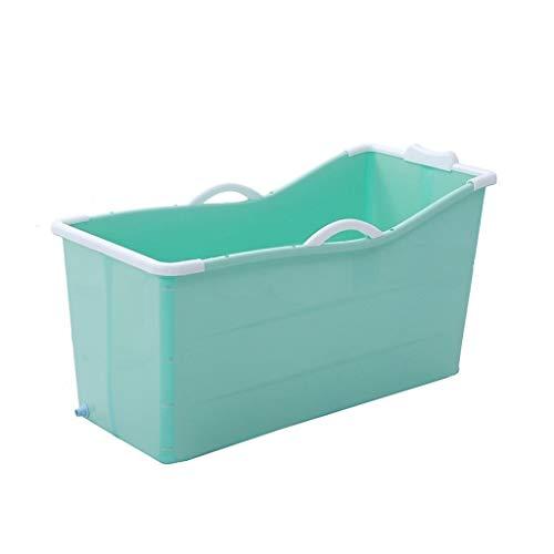 GAONA Opvouwbare draagbare badkuip voor volwassenen, opvouwbaar, met klapdeksel met voeten, badkuip voor kinderen en peuters, 117 x 52,5 x 60 cm