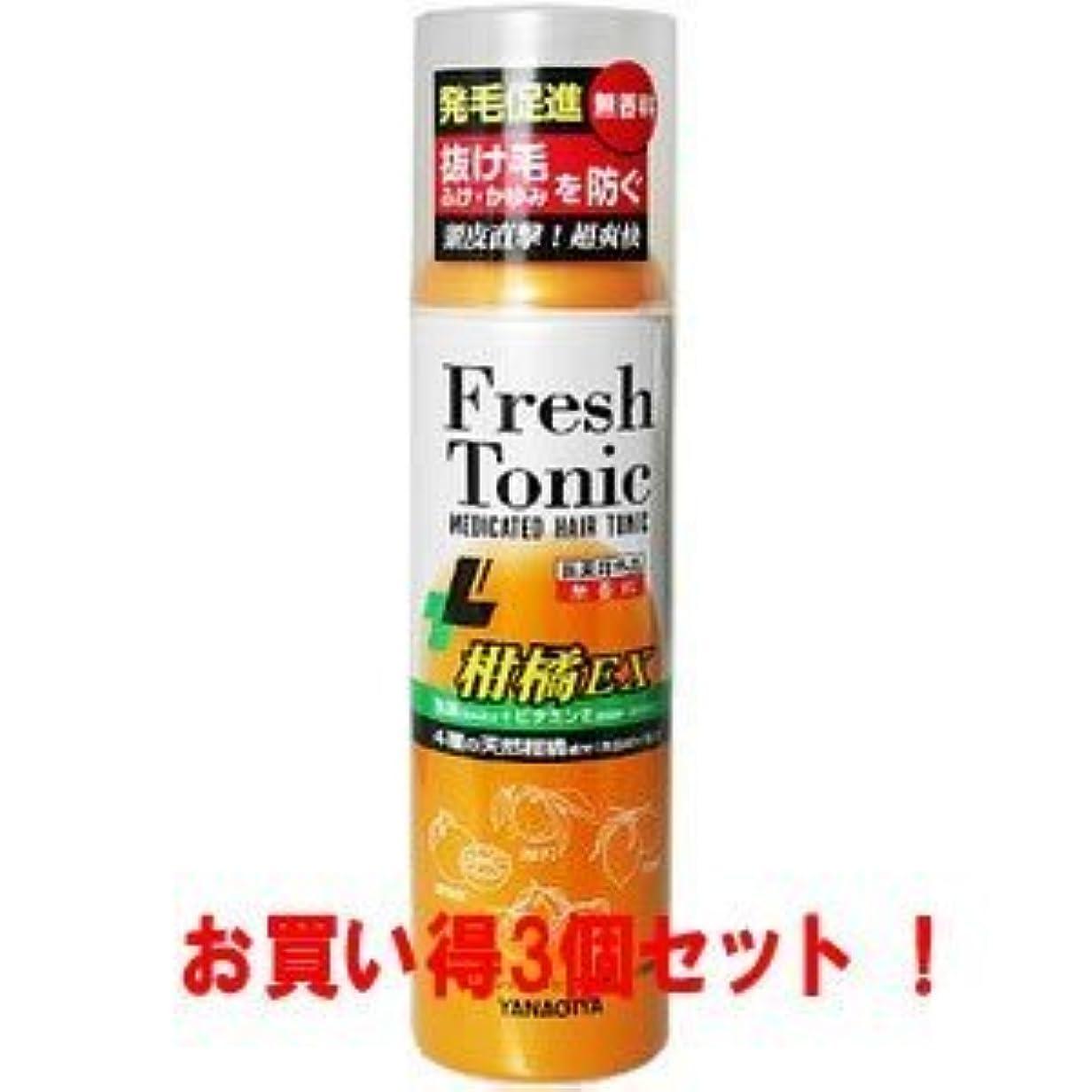 不純更新するそうでなければ【柳屋本店】薬用育毛 フレッシュトニック 柑橘EX 無香料 190g(医薬部外品)(お買い得3個セット)