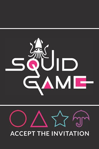 SQUID GAME NETFLIX TV Series Theme Notebbok: (6'x9'), Lined Notebook, Journal, High Quality