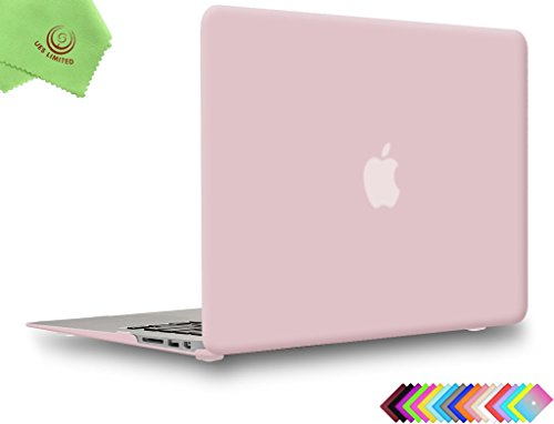 UESWILL Smooth Matte Hard Shell Case Cover for 2010-2017 Release MacBook Air 13 inch Model A1466 A1369 + Microfibre Cleaning Cloth, Rose Quartz