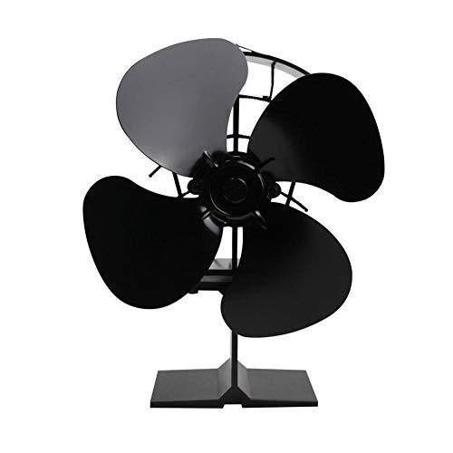 iBoosila Kamin Ventilator stromlos - Ventilator für Holzöfen - Ofen Ventilator für optimale Verteilung der Luft Designer