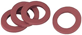 5 pack (50 total washers) - Gilmour 01RW Rubber Hose Washers - Stop Leaking Garden hoses & Faucets