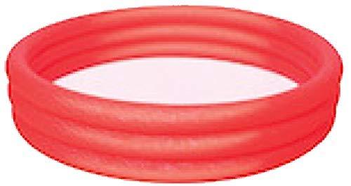 Bestway Planschbecken Kinderpool Pool 3-Ring Embossing (102 x 102 x 25 cm (Rot))