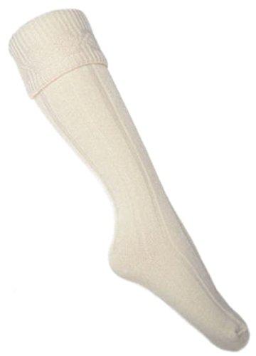Schnäppchen KILT Socken Cremefarbe, Größe 44-48