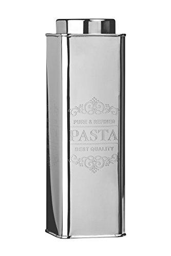 Premier Housewares Edelstahl Chai Pvasta Kanister, Rostfreier Stahl, Silber, 9x9x31