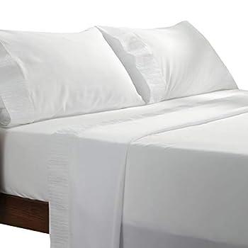Bedsure White King Sheets Set - Soft 1800 Bedding Microfiber King Size Sheets 4 Pieces Sheets King Size Bed Set