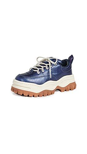 Eytys Damen Angel Coated Sneakers, Blau (Saphir), 37 EU