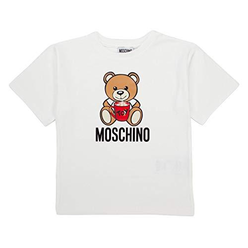 Moschino Maxi T-Shirt Panna Con Stampa Orsetto 10 Anni
