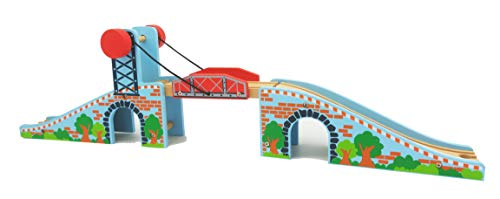 Z MAYABBO Wooden Train Tracks Accessories Wood Train Lifting Bridge for Railroad Tracks fits for All Railway Tracks
