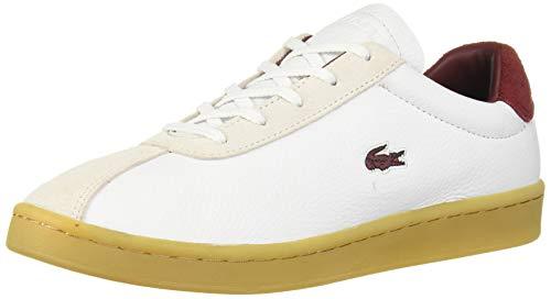 Lacoste Women's Masters Sneaker, White/Dark Red, 10 Medium US