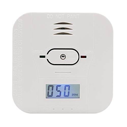 Combination Smoke and Carbon Monoxide Alarms Battery Operated with Sound Warning LCD Display (Model:CST503)
