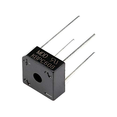 DIYElectronic 5 pcs Diode Bridge Rectifier KBPC608 6A 800V
