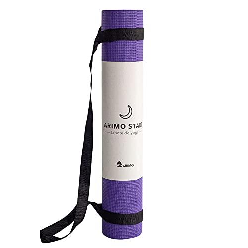 ARIMO Tapete Yoga Mat Antiderrapante PVC Todos Os Tipos de Yoga/Pilates Exercícios de Solo 166 x 60 cm x 5 mm (Roxo)