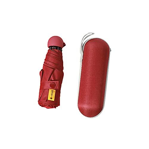 Mabor - Ombrello da viaggio con protezione UV, antivento, pieghevole, compatto, per viaggi, pioggia, sole, mini ombrello portatile con custodia, leggero e pieghevole, per donne