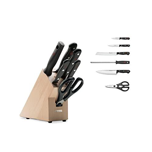 WÜSTHOF 1095070602 Gourmet Serie Aktion - Juego de cuchillos con soporte (7 piezas)